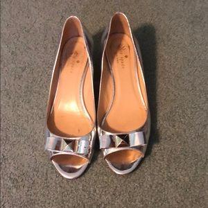 Kate Spade metallic shoes
